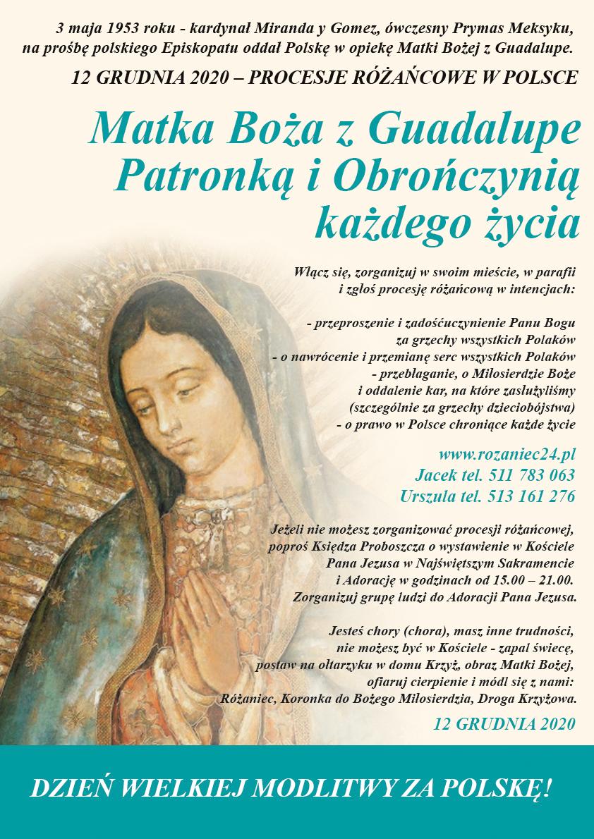 Matka Boża z Guadalupe Patronką i Obrończynią każdego życia